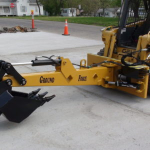 hydraulic swing backhoe straight
